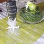 flute gravée pied décoré tull blanc ruban blanc