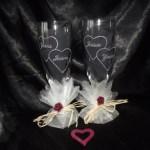 flute gravure coeurs avec prénom