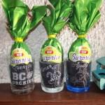 verre gravure BCO tigrou cheval décoration oeufs de paques surprise
