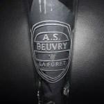 Gravure sur verre logo foot ASBeuvry La Foret