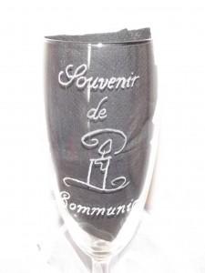 gravure souvenir de communion et bougie