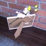 arrière du cadre en verre gravure mariage décoration orchidée