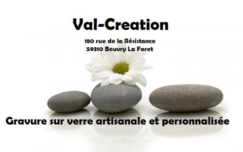 gravure sur verre artisanale et personnalisée val creation Beuvry La Foret