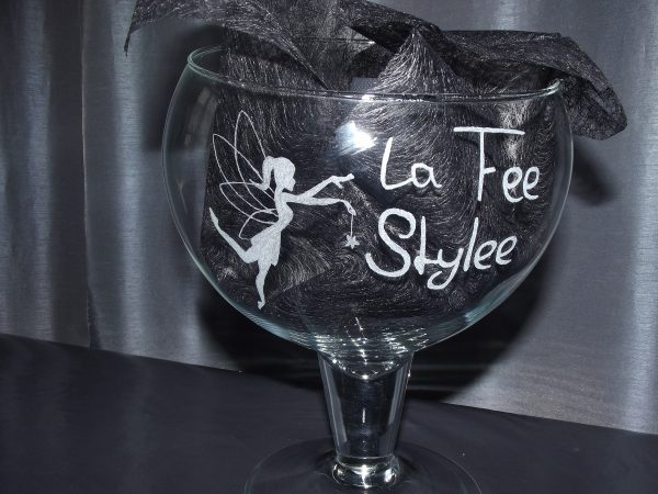 la fee stylee gravure sur verre