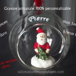 boule-pere-noel-prenom-premier-noel-gravure-val-creation-orchies-beuvry