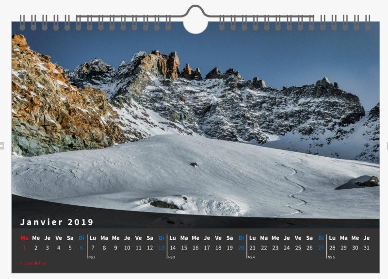 """Le Calendrier 2019  """"Lumières du Val d'Aoste"""""""