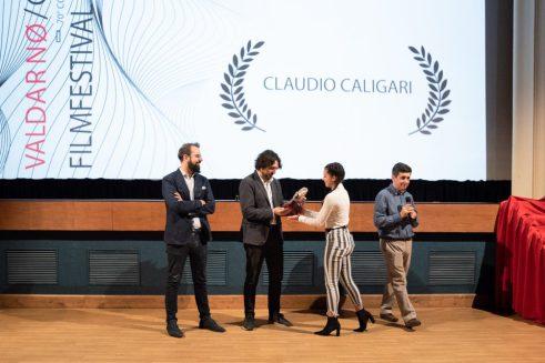 Simone Isola ritira il premio alla carriera per Caligari