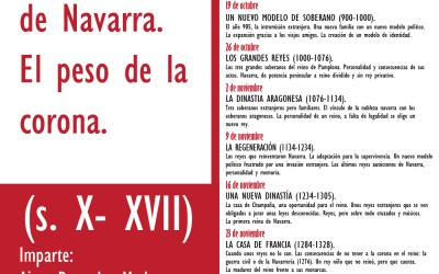 """Cuarto curso de historia en Unzué """"Reyes y reinas de Navarra. El peso de la corona""""."""