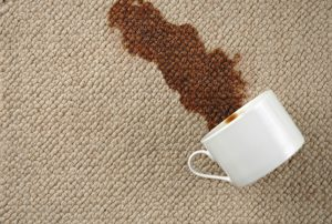 coffee spill on cream carpet