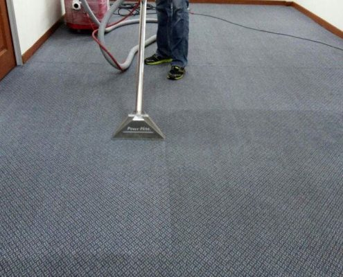 wet carpet cleaning method
