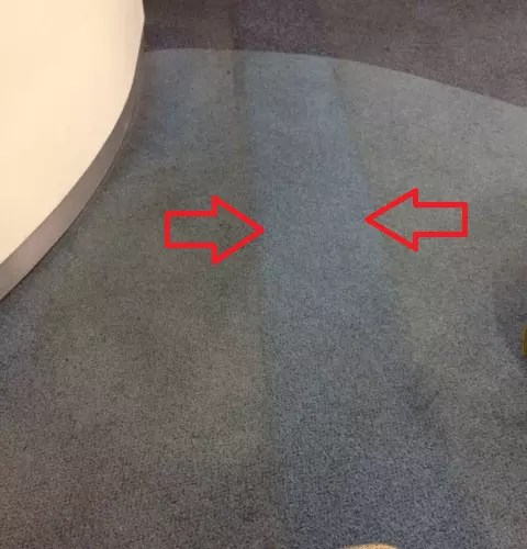office carpet cleaner before and after