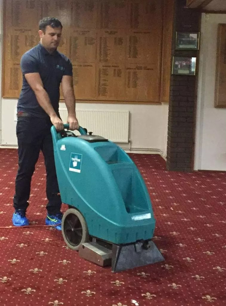 james cleaning pub carpets