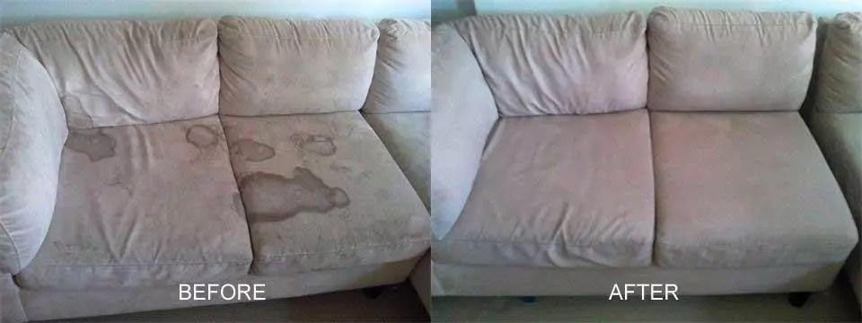 sofa cleaning in barry before after