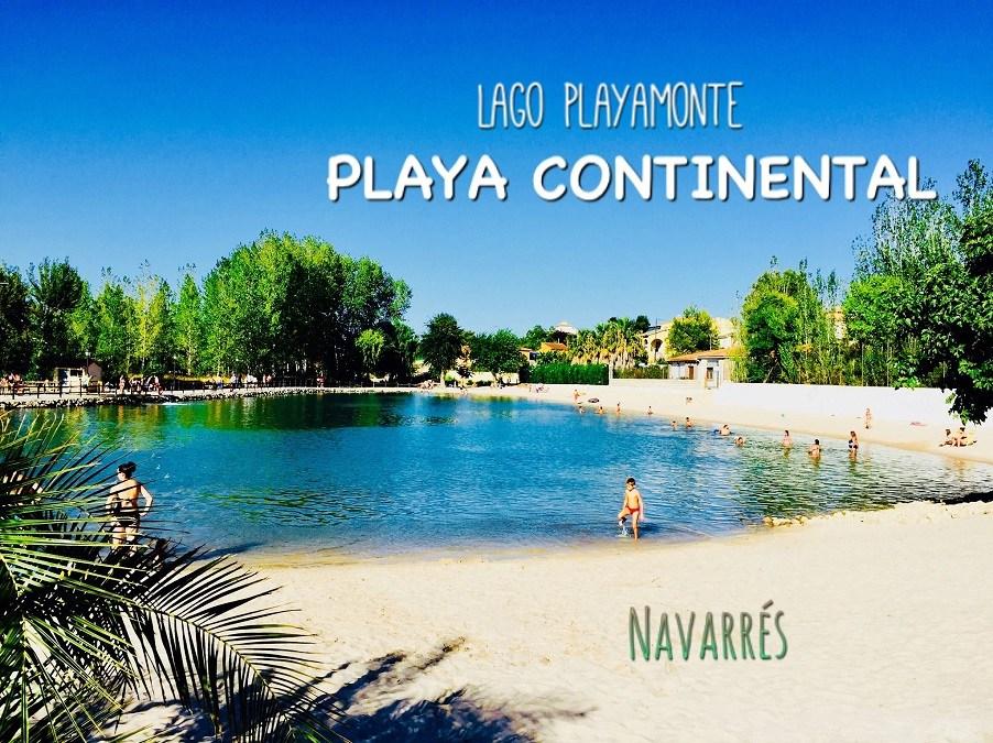 El lago de Playamonte, la playa continental del paraje de Las Fuentes de Navarrés