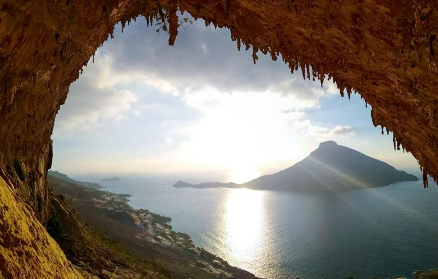 La espectacular cueva Grande Grotta, el principal sector de Kalymnos.