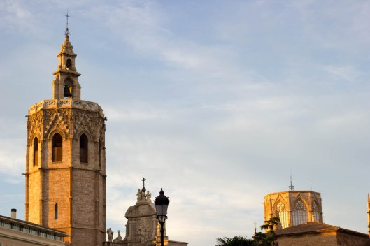 Miguelete tower in Plaza de la Reina.