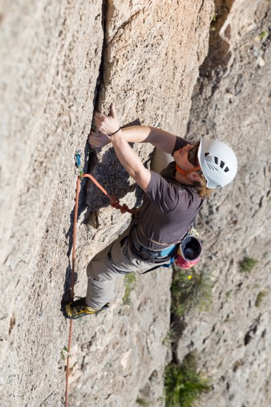 Spencer climbing with us in Tallat Roig (Alzira, Dec. 2018).