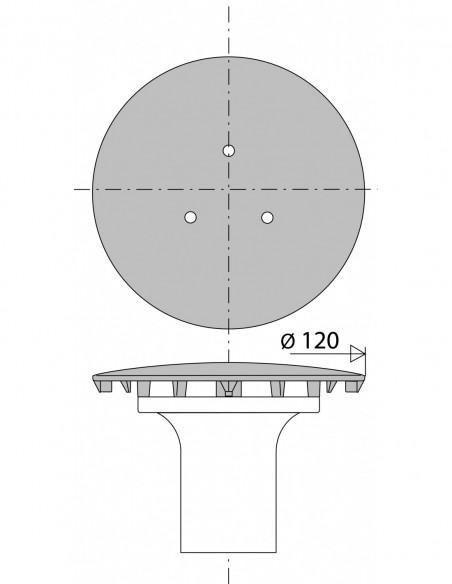 capot pour bonde de receveur de douche a orifice d 90 mm avec tube garde d eau metal chrome