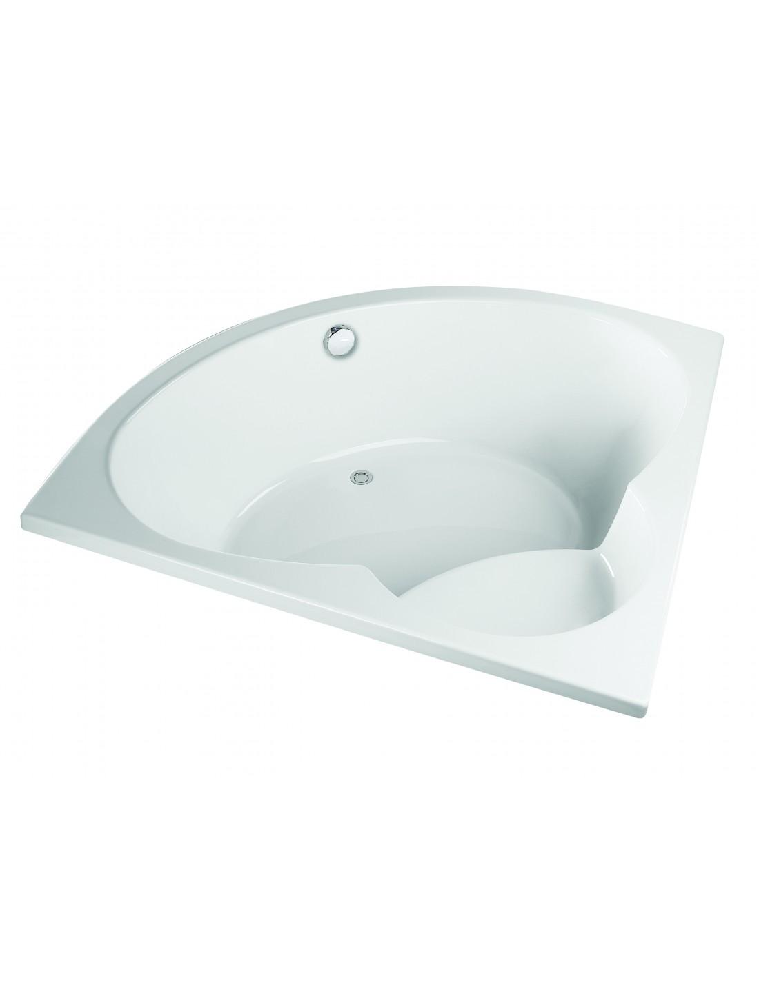 baignoire d angle a encastrer avec assise optimum valentin