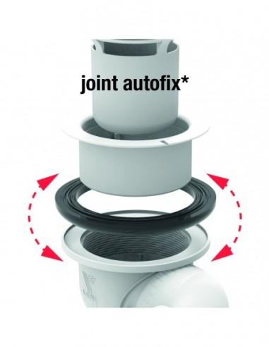 bonde de douche d 90 mm capot metal d 120 mm joint autofix sortie verticale nf chromee