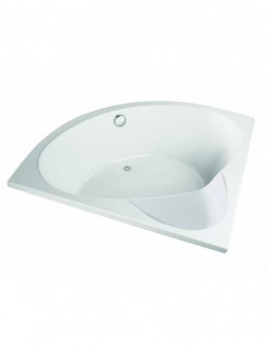 baignoire premium d angle avec siege integre chassis et 5 pieds reglables fournis 140 x 140 cm