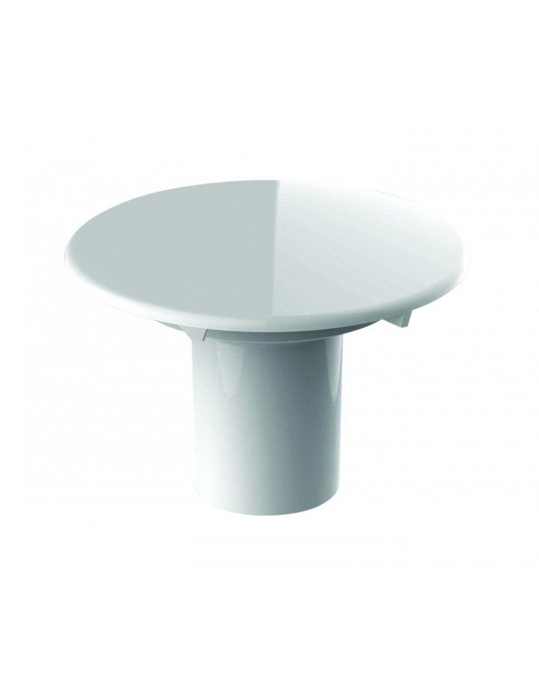 capot de bonde metal blanc avec tube garde d eau valentin