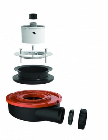 bonde extra plate receveur o90 mm flush 44l mn h 60 mm sans capot