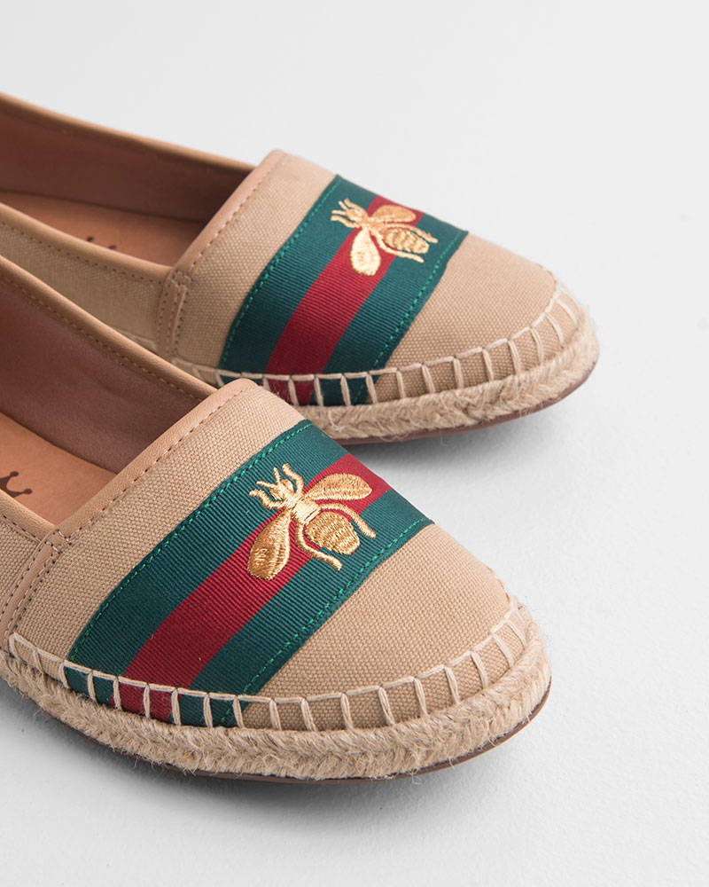 Espadrille Lona Bege/Ouro