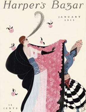 Erté primera portada para Harper's Bazar 1915