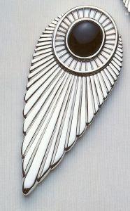 Erté joyería broche Plume 1988-1990