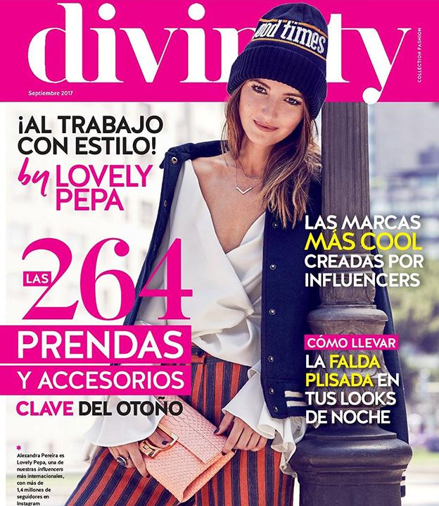 Revista Divinity Valentina Falchi joyas septiembre 2017