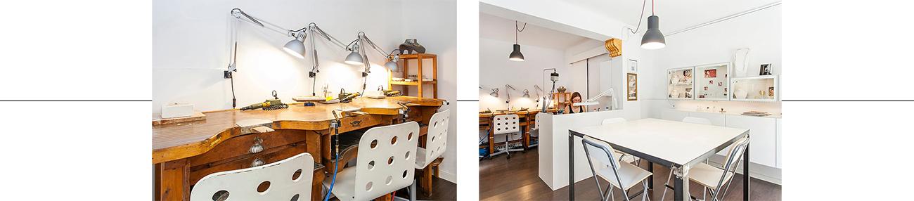 affitto laboratorio orafo, corsi di gioielli basico, Barcelona