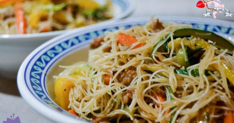 """Spaghetti di riso """"oriente a casa mia"""""""