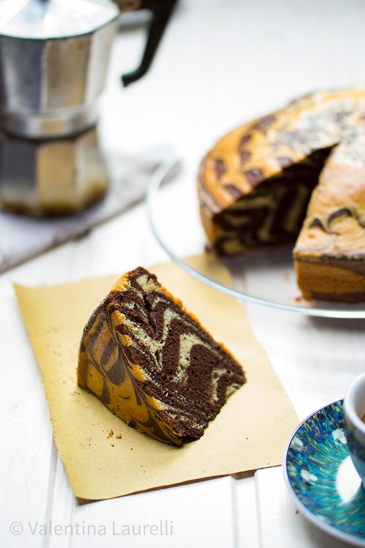 Torta zebrata vaniglia e cioccolato