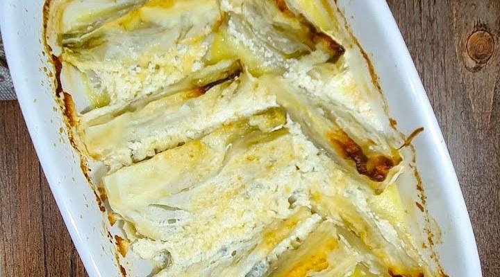 Finocchi gratinati al gorgonzola