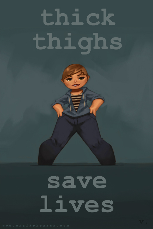 0071 Thick Thighs Save Lives