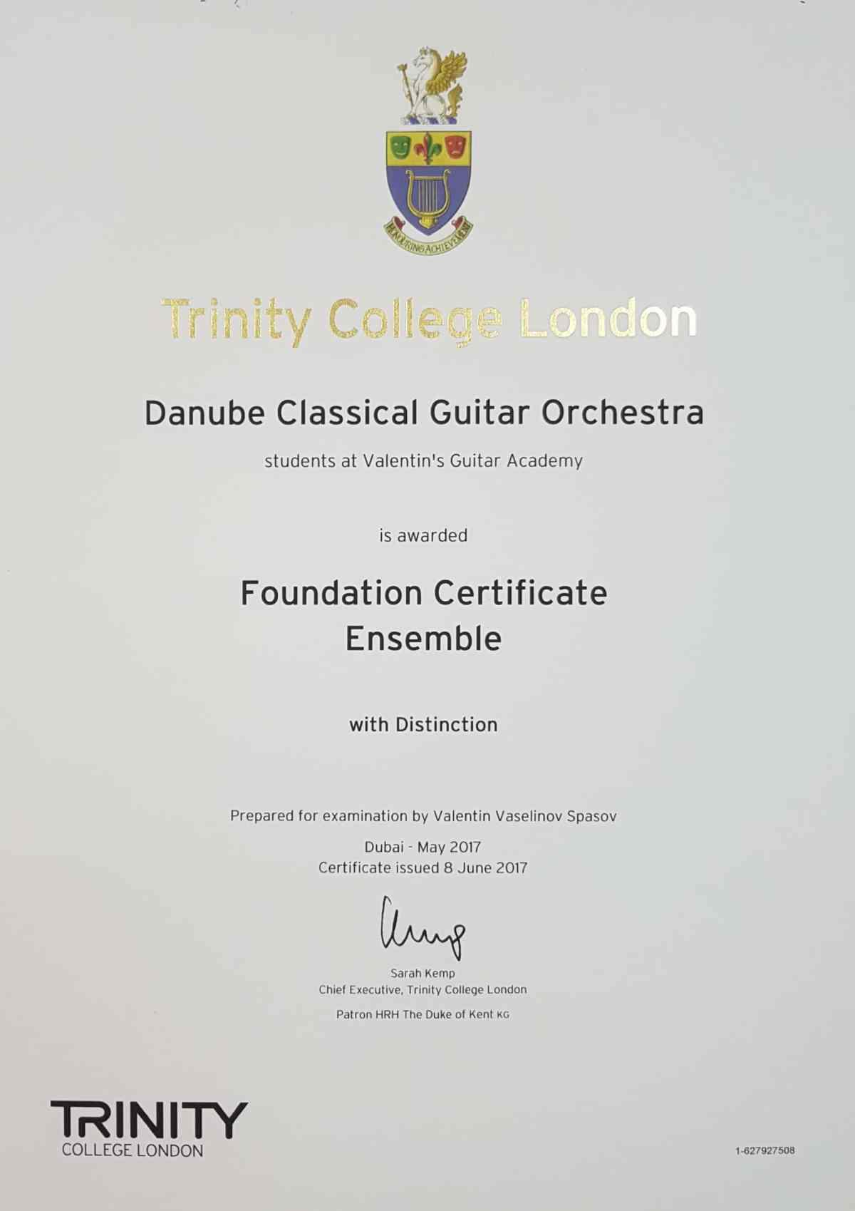 TCL Foundation Certificate Ensemble