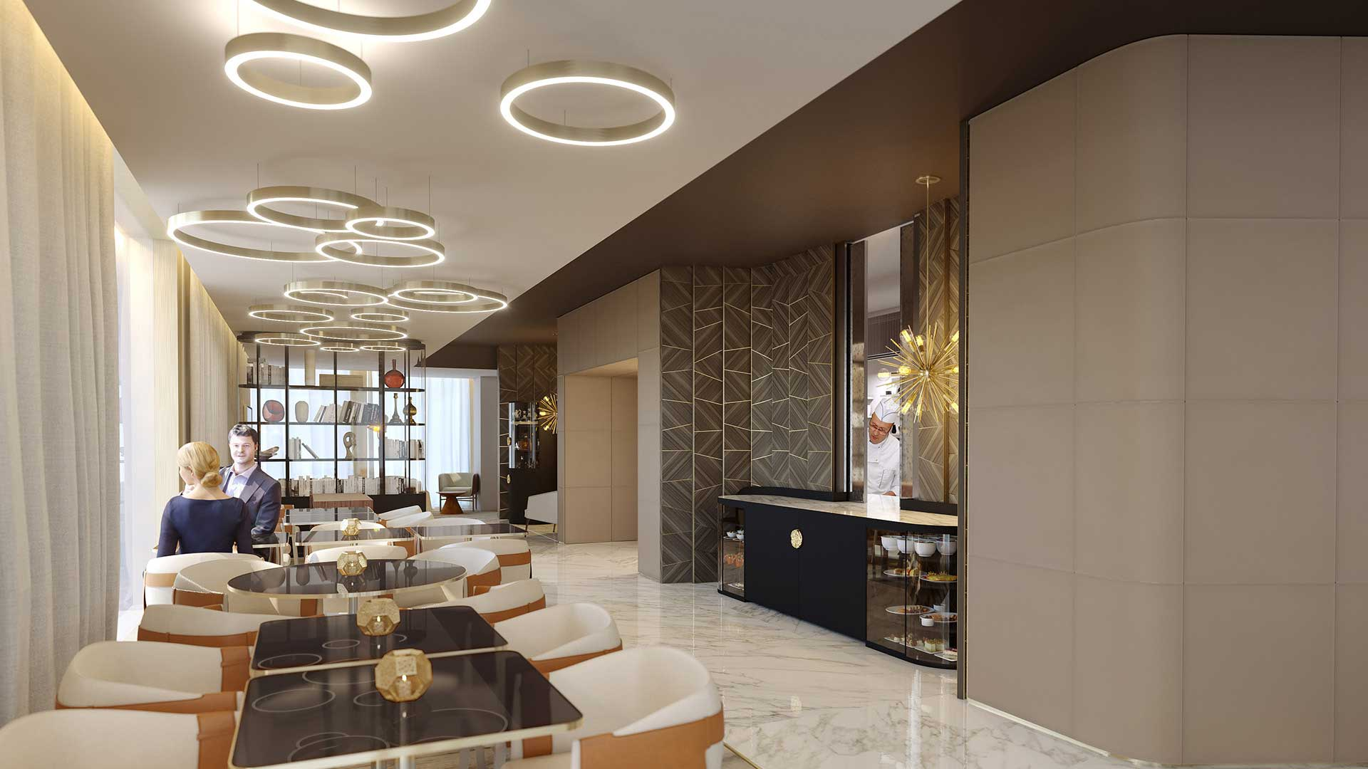 Concours 3D Perspective Restaurant De Luxe Image Synthse