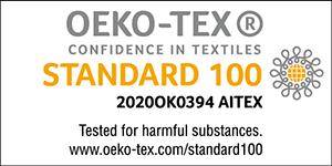 OEKO-TEX®<br>confidence in textiles<br>STANDARD 100