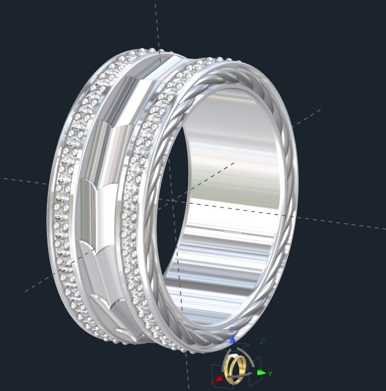 How much is a Custom Mens Wedding Ring?