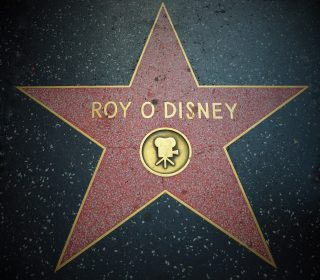 roy disney walk of fame hollywood