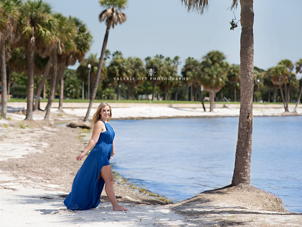 florida senior girl on the beach in clearwater