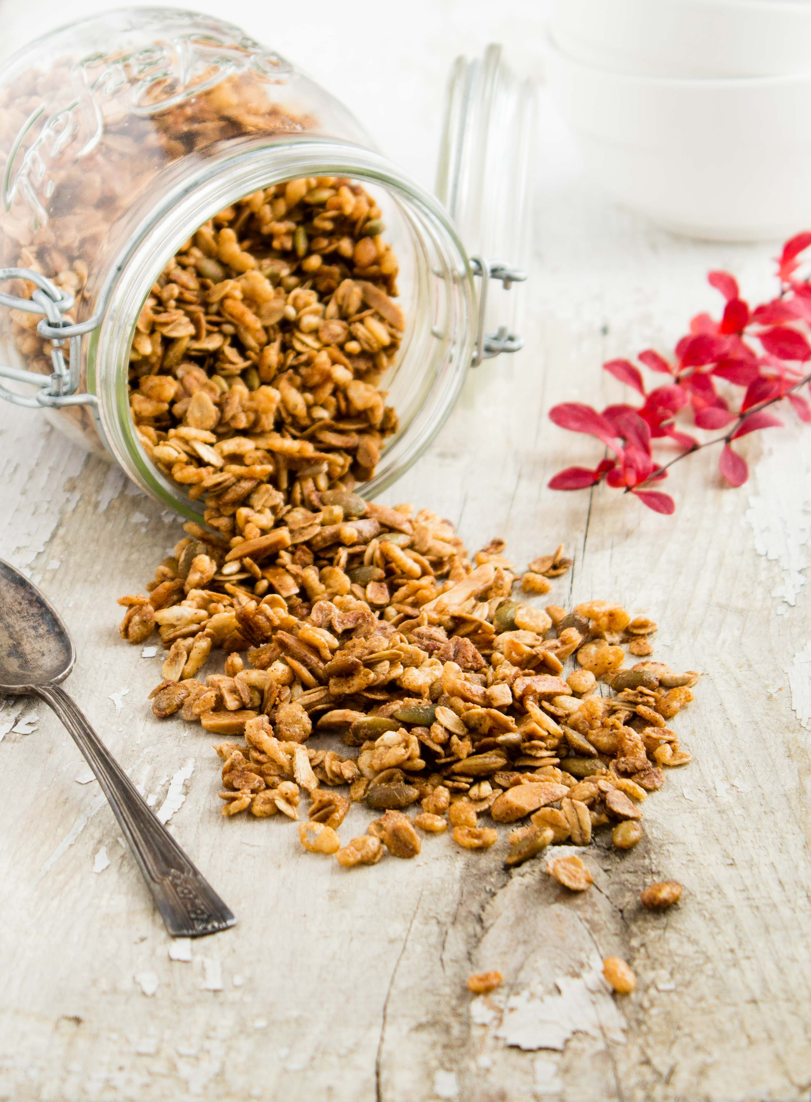 Homemade Pumpkin Pie Granola