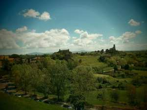 View from Medieval Tuscania to site of Etruscan and Roman town