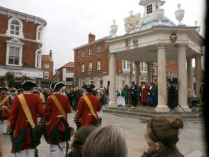 Proclamation of George I at the 1714 Market Cross