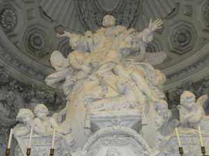 Priorato altar closeup