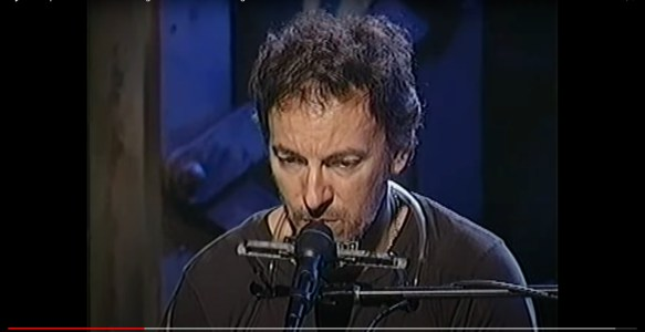 """Bruce performs """"You're Missing"""" on Grand Piano during a rehearsal in 2002"""