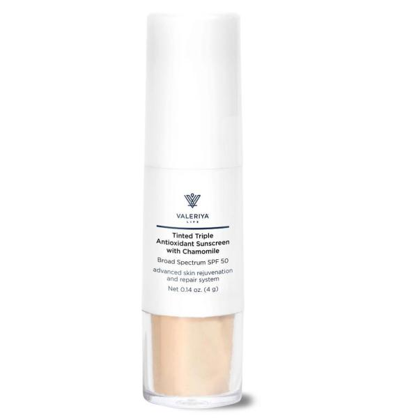 Tinted Triple Antioxidant Sunscreen with Chamomile
