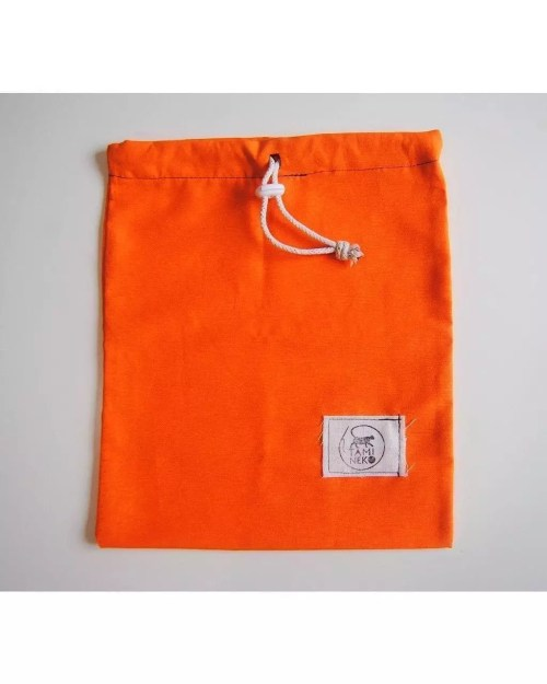 TamiNeko - Bolsas de tela para la compra - - Handmade fabric shopping bags orange