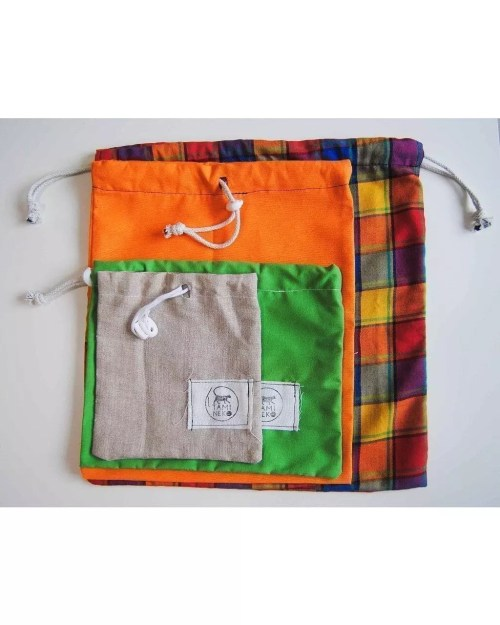 TamiNeko - Bolsas de tela para la compra - - Handmade fabric shopping bags sizes